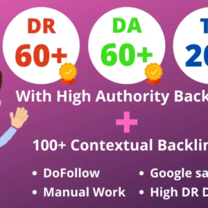 Increase Ahrefs Domain rating 50 to 60+ DA 50+ TF 20+ and 100 Contextual backlinks