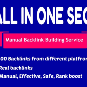 100 High Quality Manual Backlinks